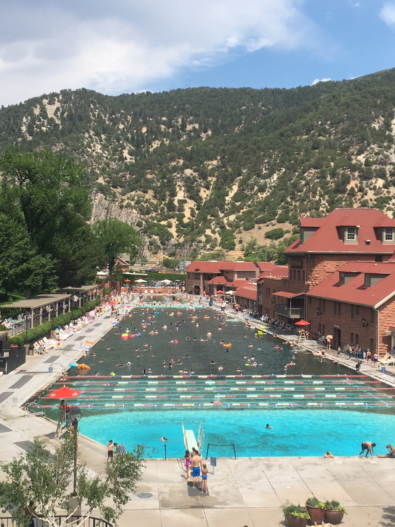 Hot Springs Pool - slightly different vibe than what Doc and the Mayos were seeking.