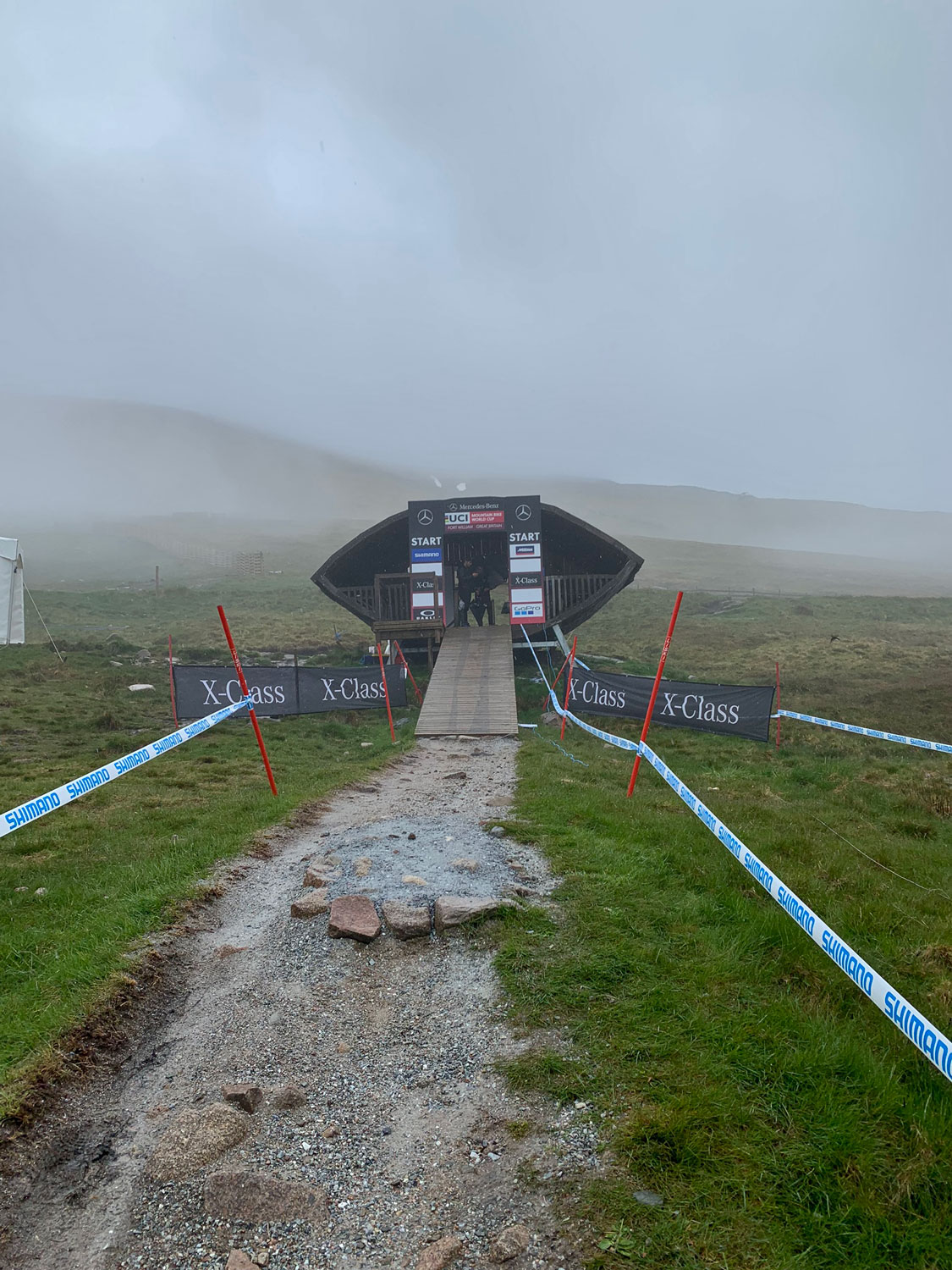 The start hut at Fort William