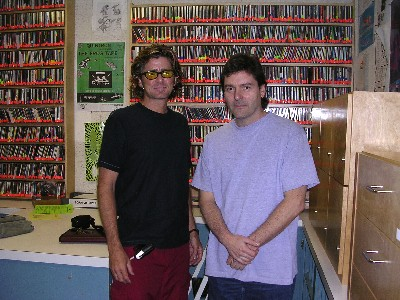 me & tony palkovic after doing his jazz/fusion radio show on KSPC 88.7