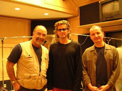first day of tracking, peter erskine, darek oleszkiewicz, & myself