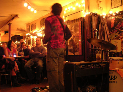 when I recorded in new york, I got to see wayne krantz play at the 55 bar