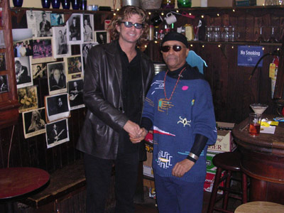 at the 55 bar with, of all people, cecil taylor- he smelled strongly of incense & something else, I know not what