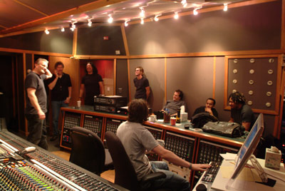 right track studio in NYC - malcom pollack, engineer, bob mintzer, jimmy haslip, me, roger burn, marcus baylor, and james genus