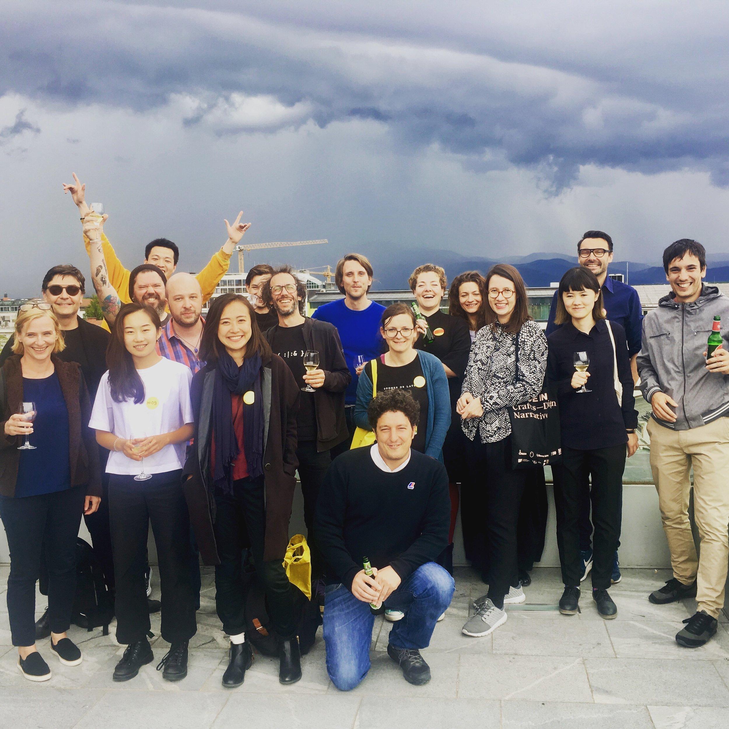BIO26 participants for challenge: LIBRARY, commonplace studio, NUK, the curators Aline Lara Rezende & Thomas Geisler.