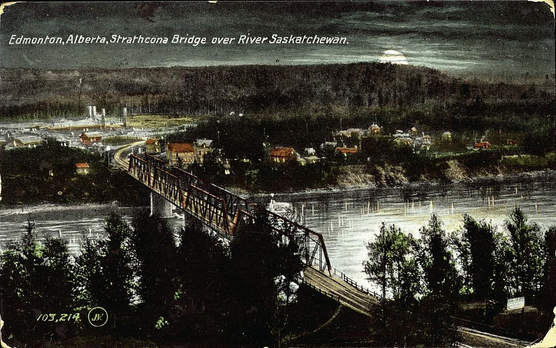 Edmonton, Alberta, Strathcona Bridge over River Saskatchewan