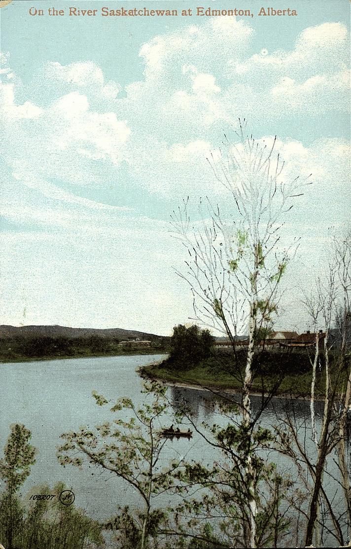 On the River Saskatchewan at Edmonton Alberta
