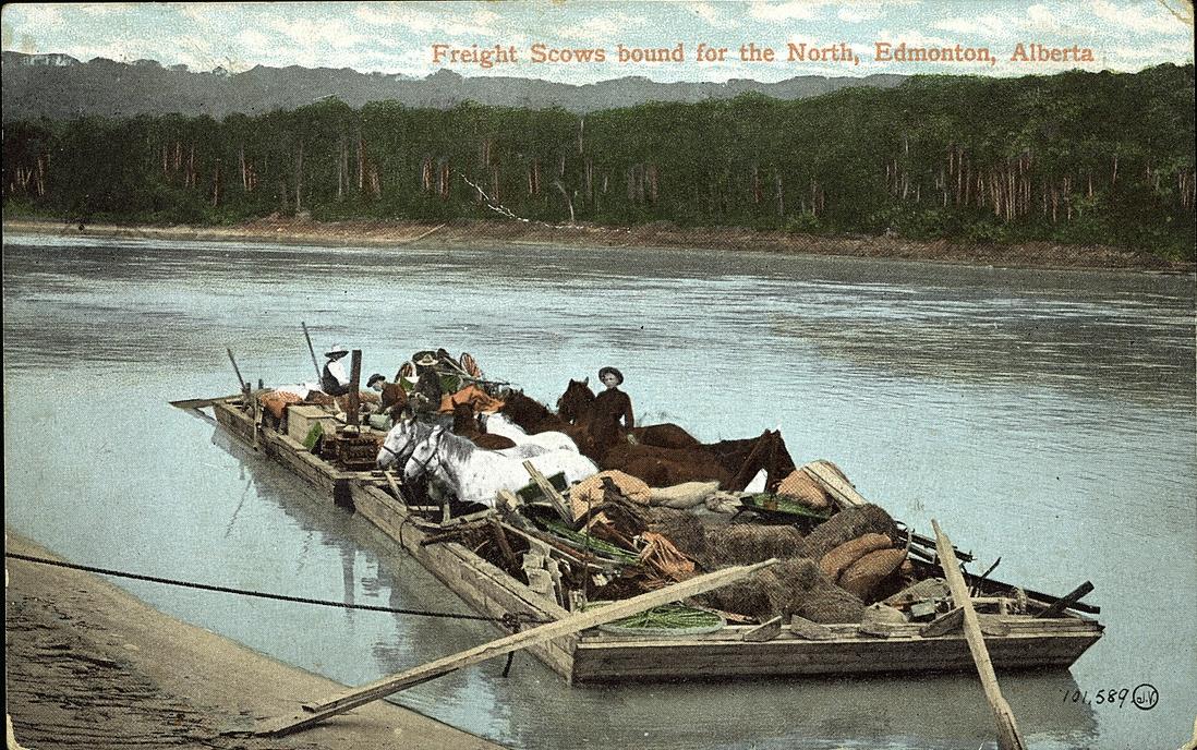 The Edmonton to Strathcona Ferry