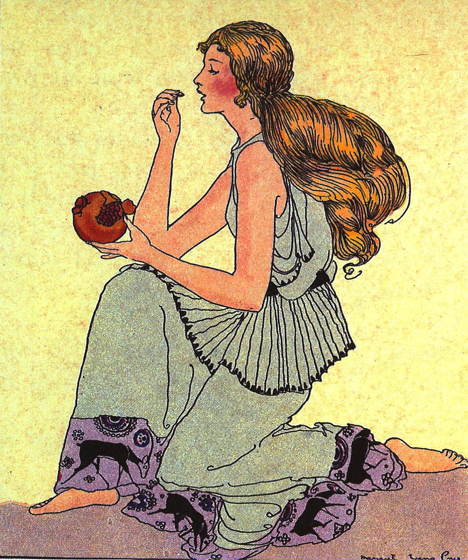 Illustration of Persephone, Goddess of the Underworld and wife of Hades. Photo by sandpaper_tiger at flickr.com