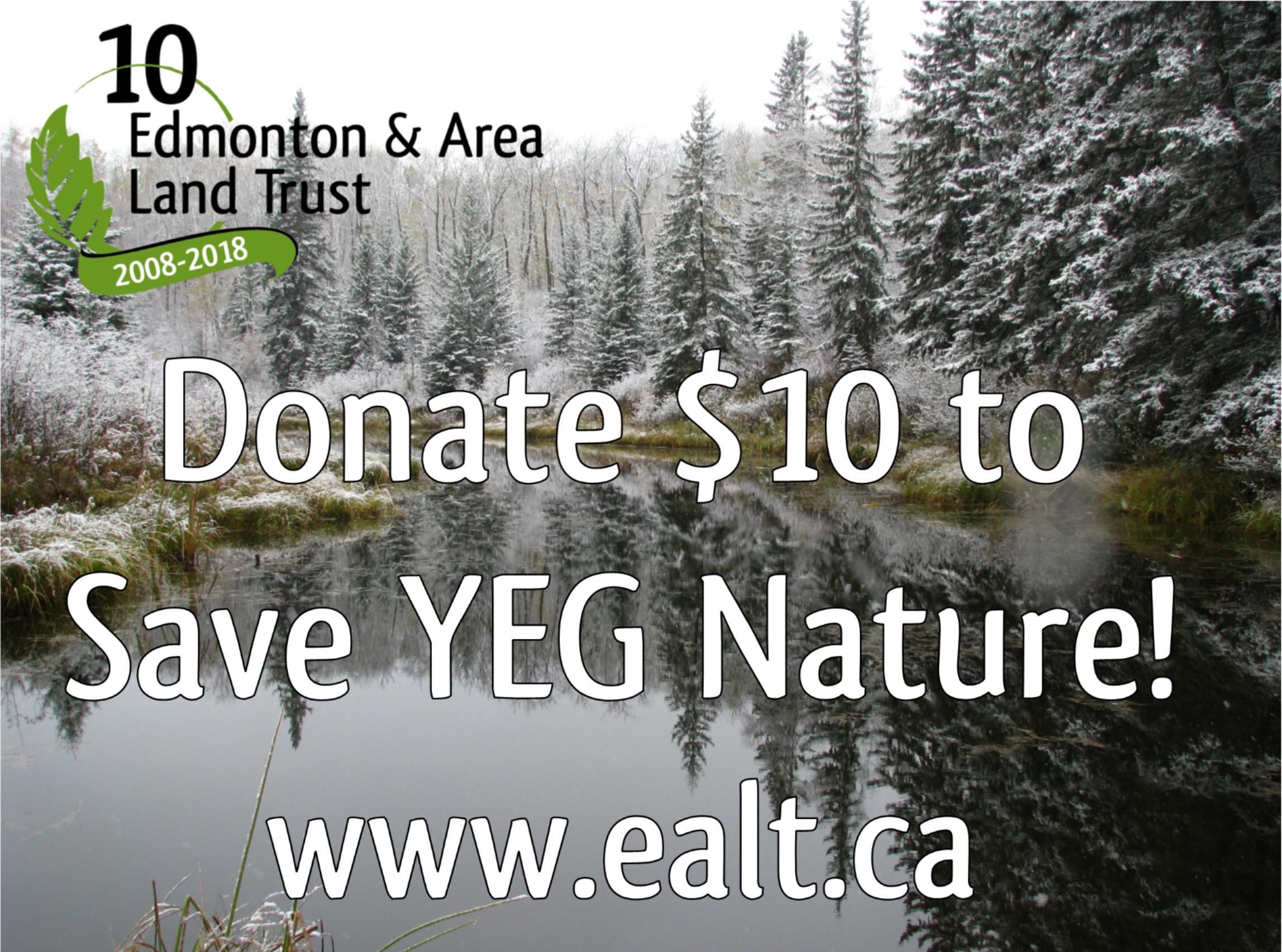 Donate $10 to Save YEG Nature