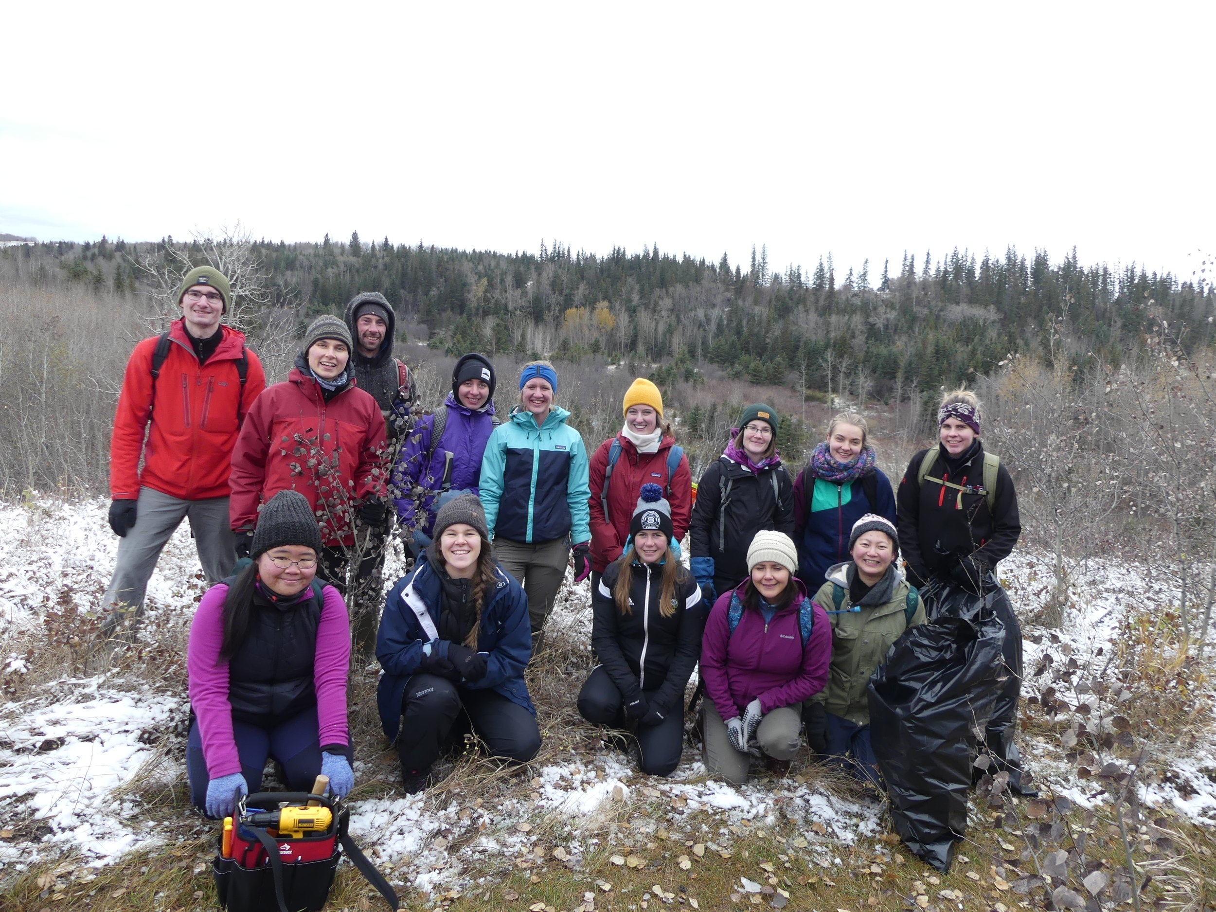 U of A Outdoors club cleaned nest boxes and removed Black Knot fungus