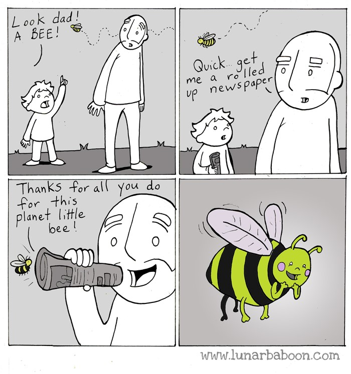 Image from Lunar Baboon Comics at www.lunarbaboon.com/comics/bee