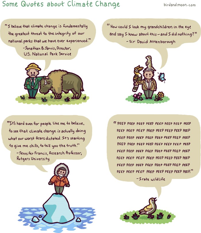 Image from Bird and Moon Science and Nature Cartoons at www.birdandmoon.com/comic/climate-change-quotes