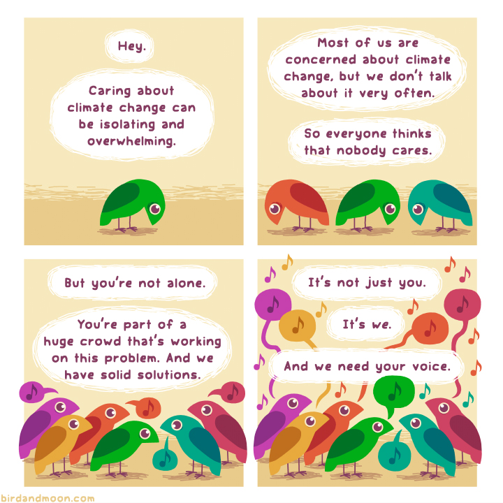 Image from Bird and Moon Science and Nature Cartoons at www.birdandmoon.com/comic/climate-change-concerns