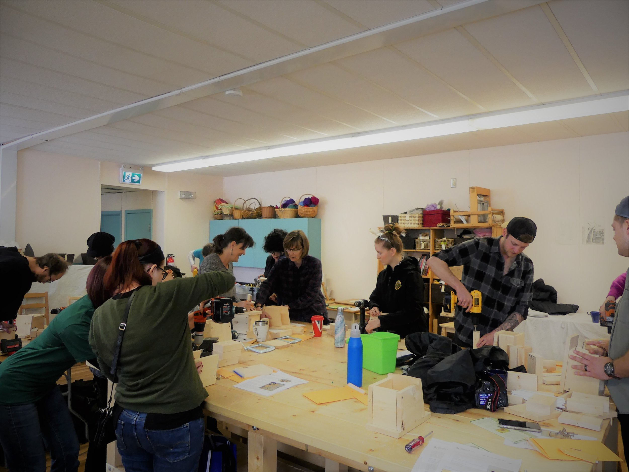 EALT hosted a bee hotel workshop at the 2019 Edmonton Resilience Festival to teach people how they can help native pollinators in their own backyards.