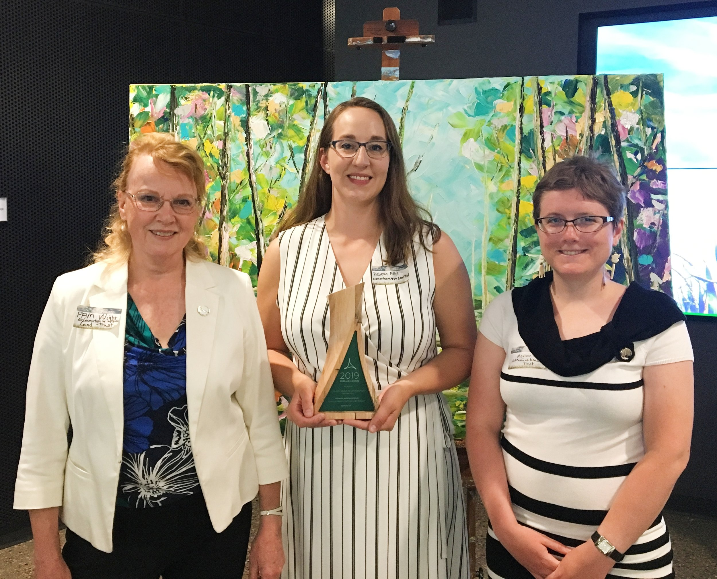 Pictured (Left to Right): Pam Wight, Executive Director; Rebecca Ellis, Conservation Manager; Meghan Jacklin, Conservation Coordinator