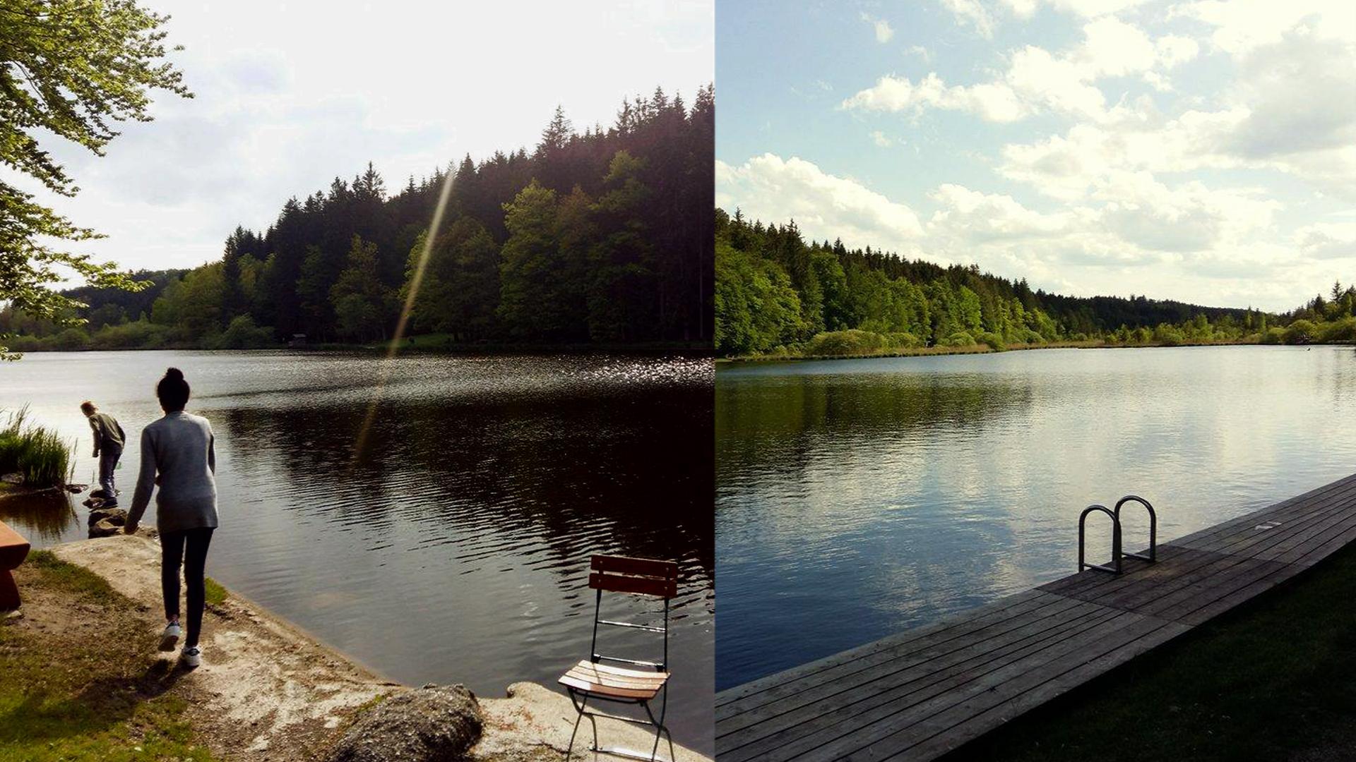 Heute machten wir einen Ausflug an den Deininger Weiher, ein Moorsee im Süden von München. Auch wenn es noch zu kalt war zum Baden, es ist immer schön und ruhig da dort. Der See selber ist nur 1,3 Meter tief, etwa 100 Meter breit und circa 270 Meter lang. Zum joggen um den See sind es aber dann schon über 1,2 km.