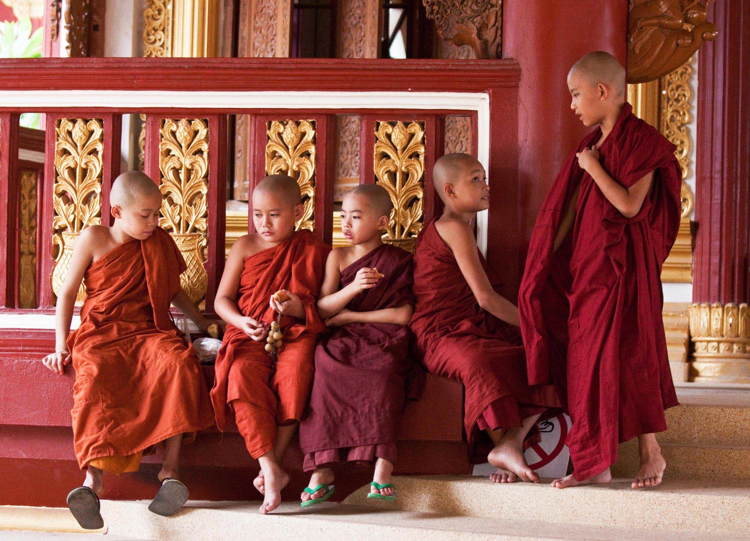 Young monks - Myanmar