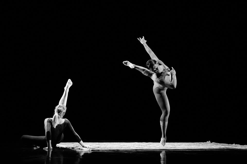 """Photo by Sharon Kain of Jaclyn Brown and Ursula Perry in """"Turf"""" (from Repertory Dance Theatre's Facebook page)"""
