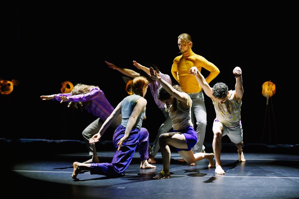 """Dancers in """"very vary"""" by Molly Heller at the Eccles Regent. Photo by Tori Duhaime."""