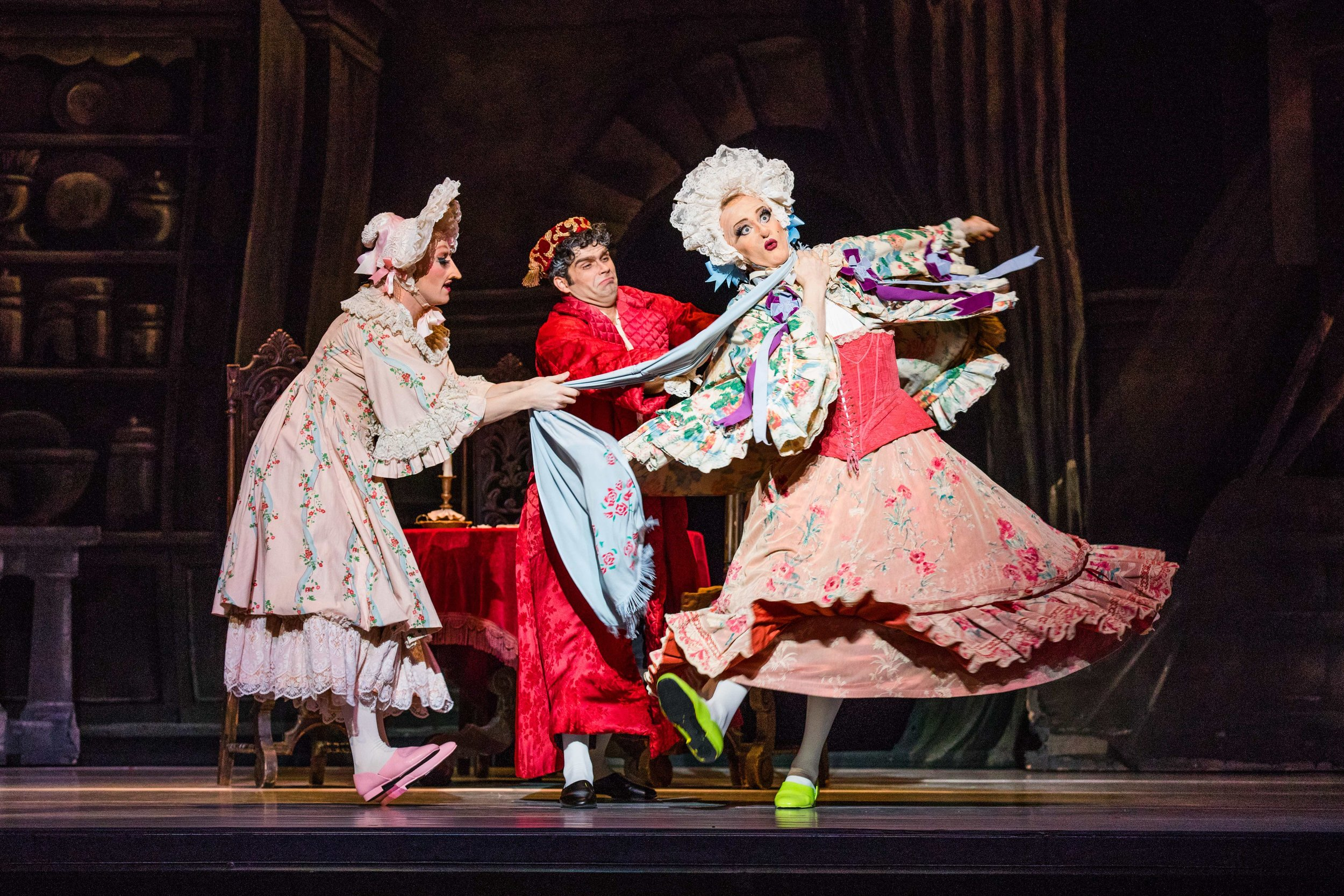 Artists of Ballet West as the Ugly Stepsisters. Photo by Beau Pearson.