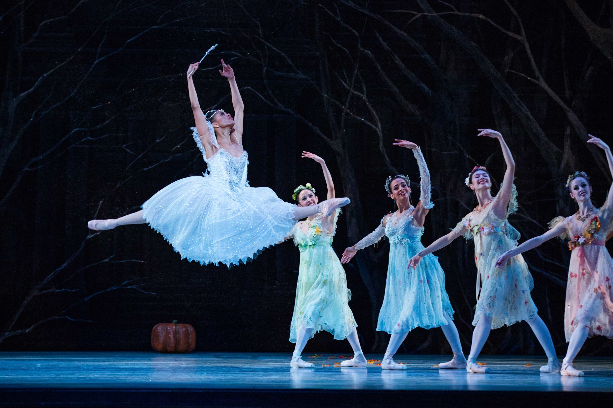 Soloist Katlyn Addison as the Fairy Godmother, with Artists of Ballet West as the Fairies of the Four Seasons. Photo by Beau Pearson.