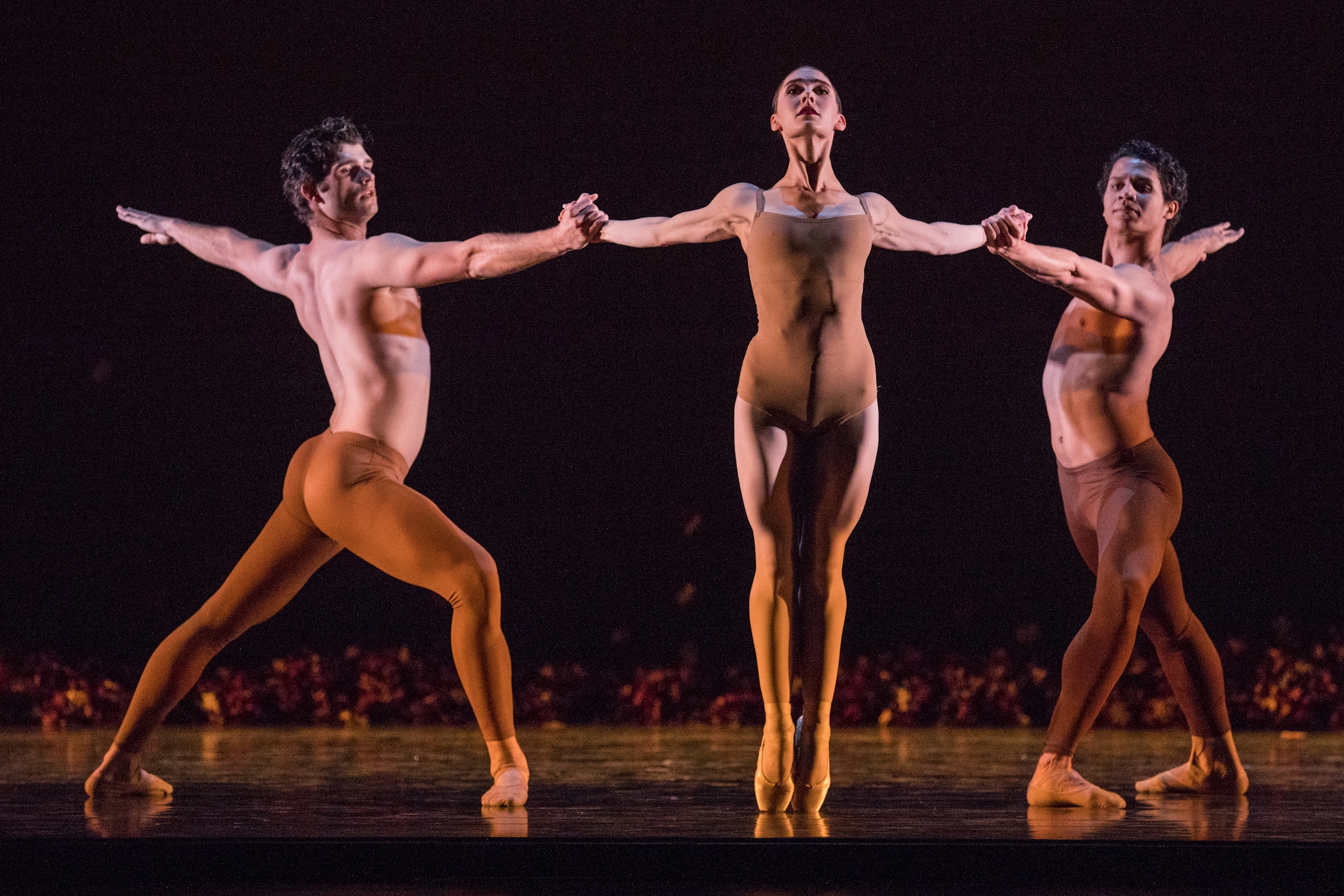 Artists of Ballet West in Jiří Kylián's  Return to a Strange Land . Photo by Beau Pearson.j