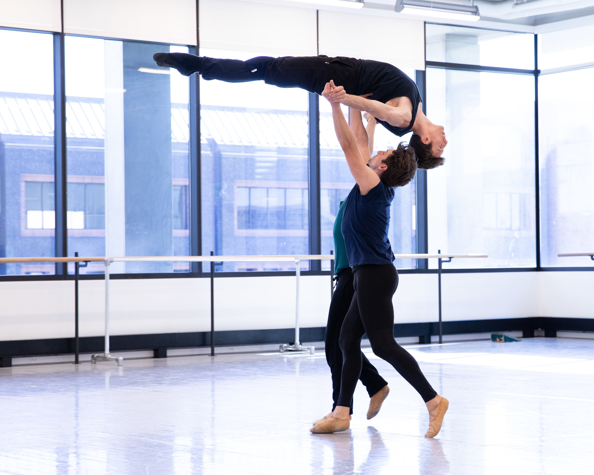 Artists of Ballet West rehearsing Natalie Weir's  Jabula . Photo by Beau Pearson.