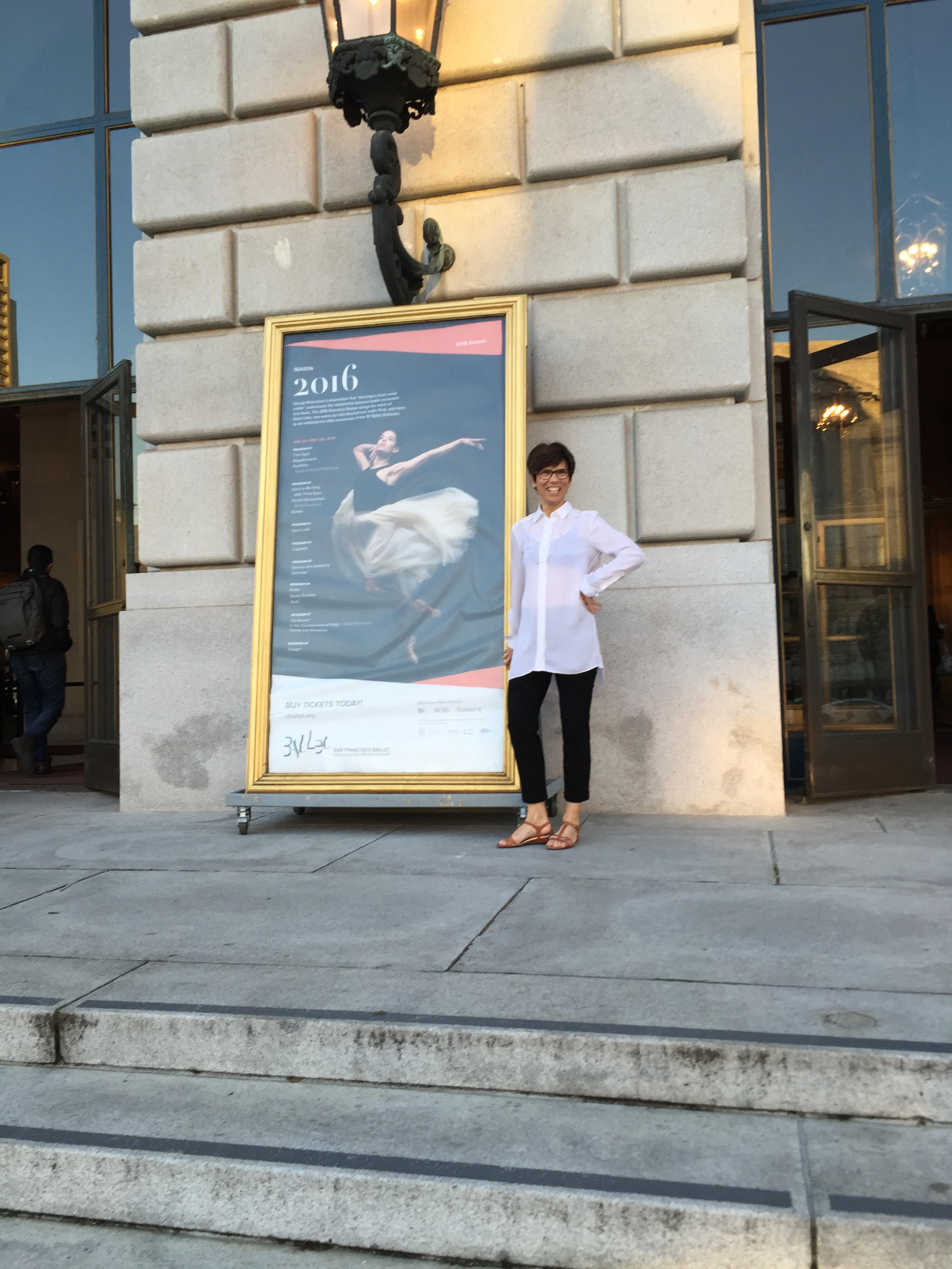 Kathy Adams visiting San Francisco to see the work of Justin Peck