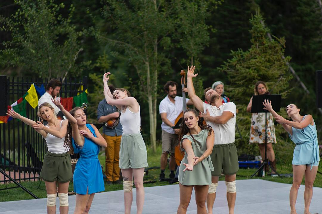 Municipal Ballet Co. performing  The River Speaks Plainly  with Pixie and the Partygrass Boys at Alta earlier this month.