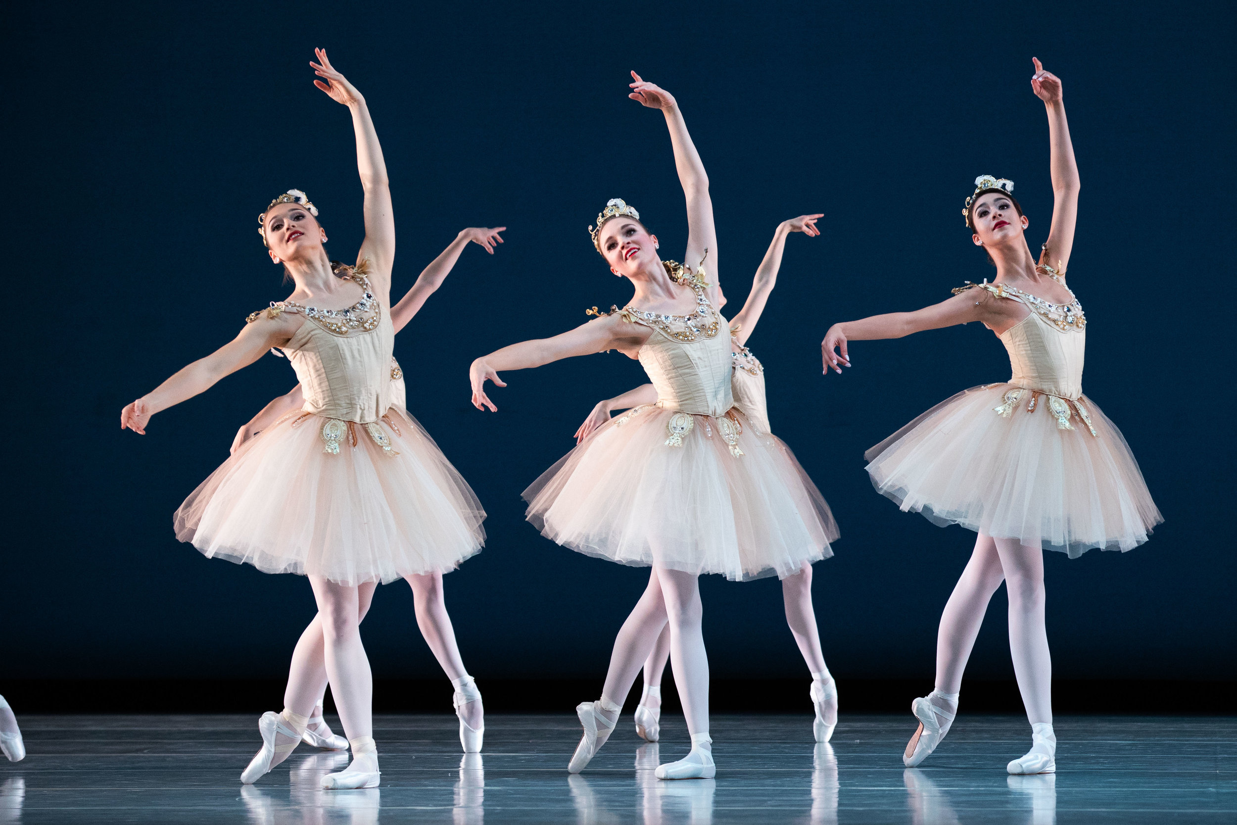 Artists of Ballet West in George Balanchine's  Diamonds . Photo by Beau Pearson.