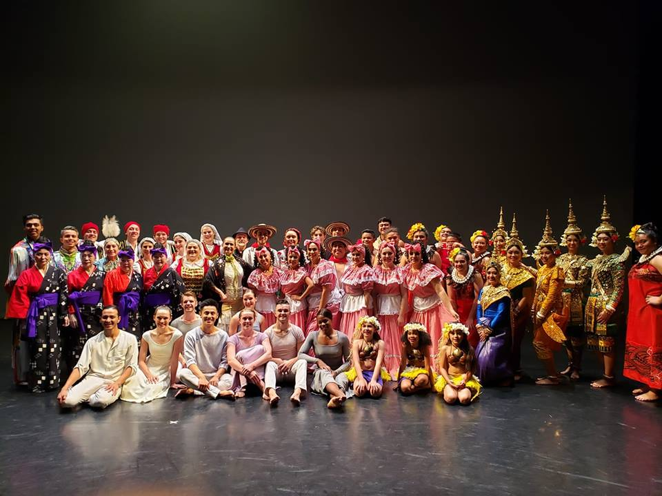 Photo of all performers in Repertory Dance Theatre's  Mosaic , courtesy of RDT.