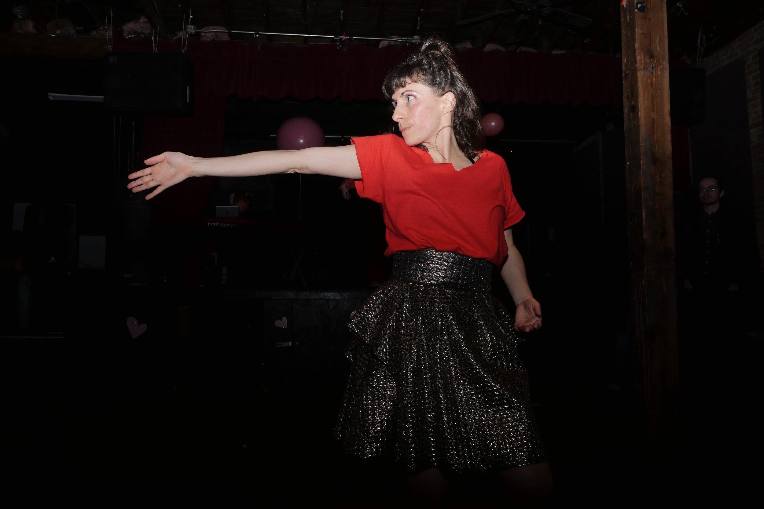 Molly Heller in HEARTLAND + Dance Party. Photo by Tori Duhaime.