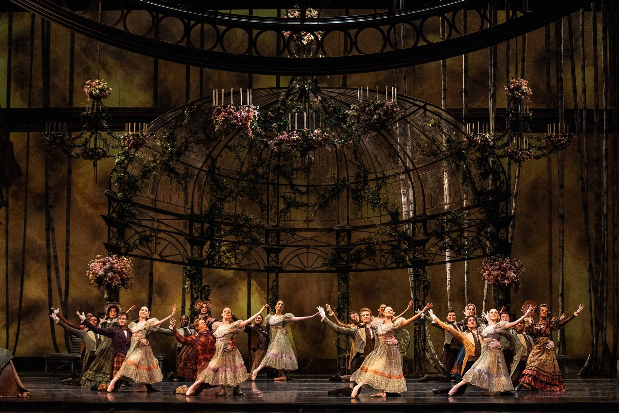 Artists of Ballet West in John Cranko's  Onegin . Photo by Beau Pearson.