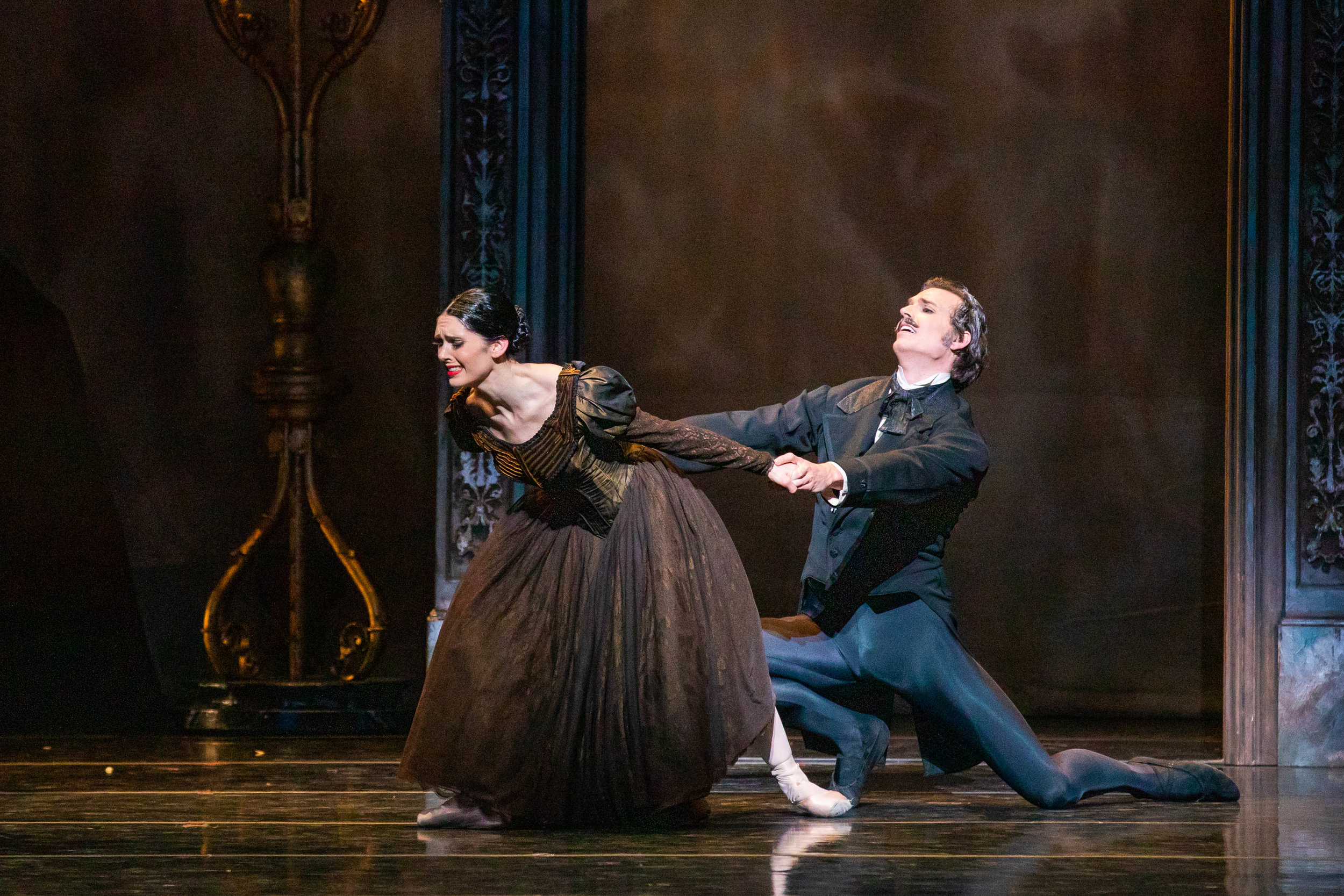 Principal Artists Beckanne Sisk and Chase O'Connell as Tatiana and Onegin. Photo by Beau Pearson.