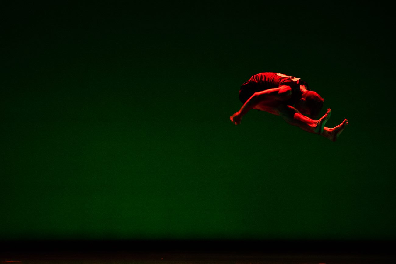 """Tyler Orcutt in Danielle Agami's """"Theatre."""" Photo by Sharon Kain."""