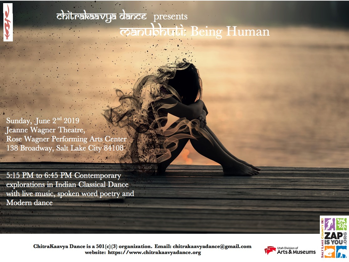 Press image for  Manubhuti - Being Human,  presented by ChitraKaavya Dance.