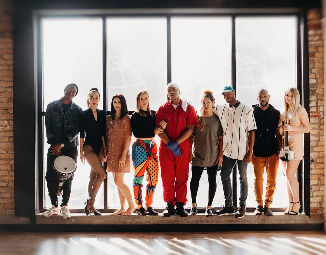 Some of the artists and performers of Junction Dance Co's  Zero Flux . Photo courtesy of Junction Dance Co.