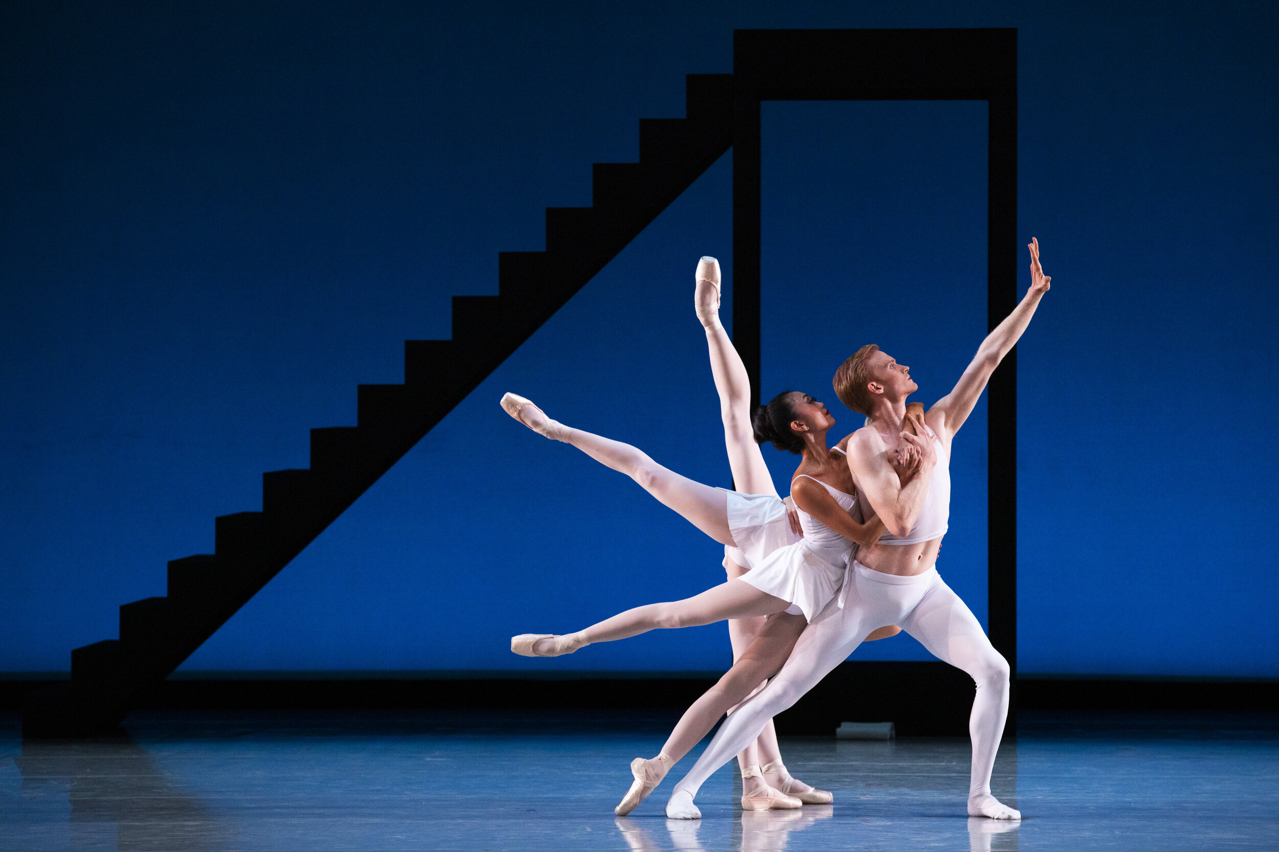 Artists of Ballet West in George Balanchine's  Apollo.  Photo by Beau Pearson.