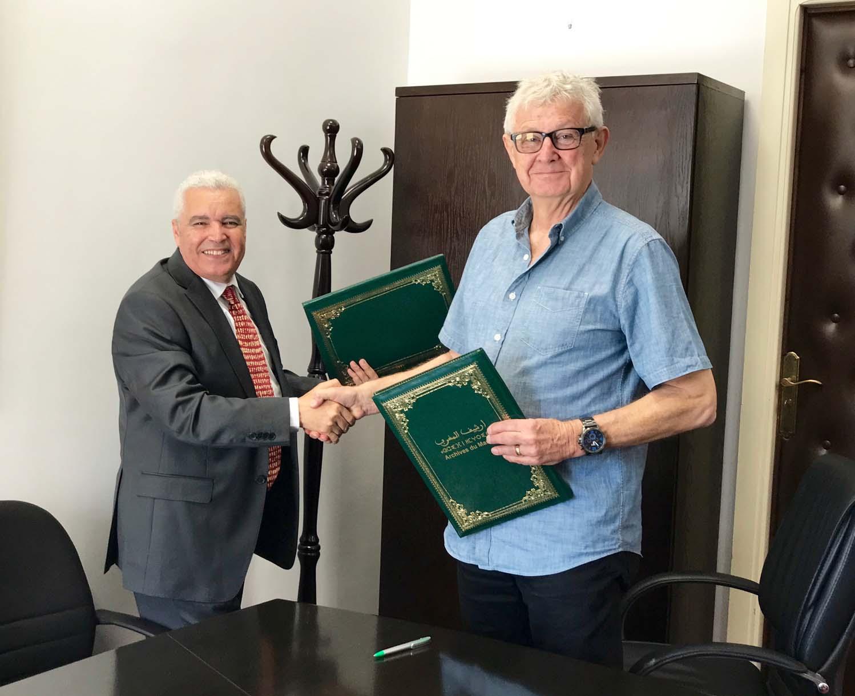 Dr. Jamaâ Baida (left) and Ross Dunn, April 6, 2017