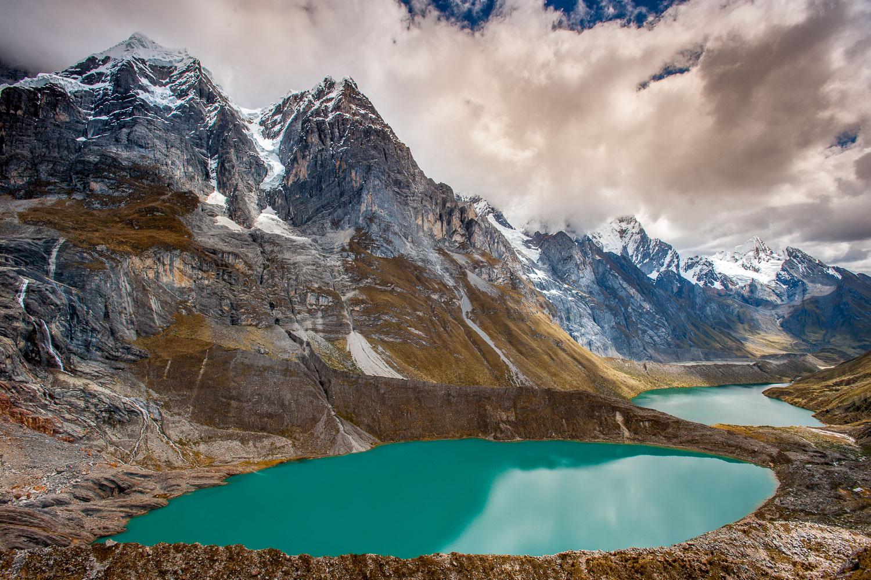 """Andes Emeralds"" Turquoise Lakes, Cordillera Huayhuish , Peru"