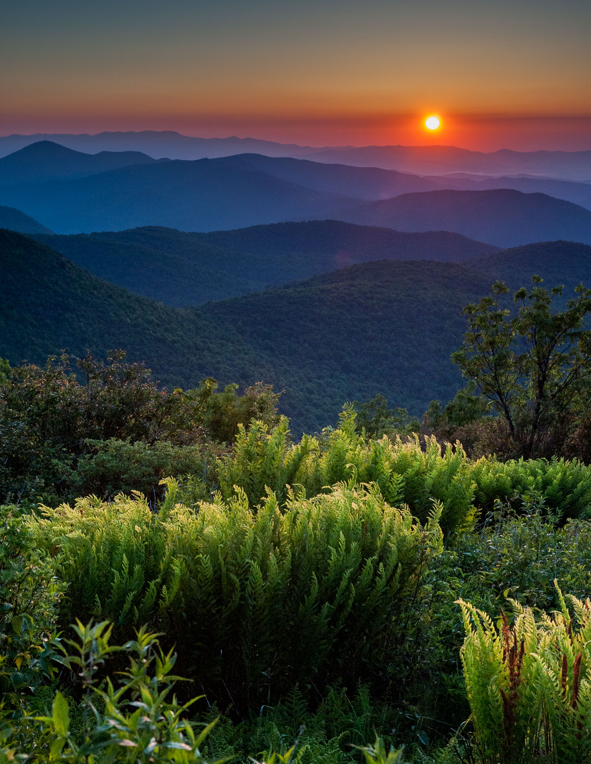 """Blue Ridge Dawn"", Sunrise,  Blue Ridge Parkway, North Carolina"
