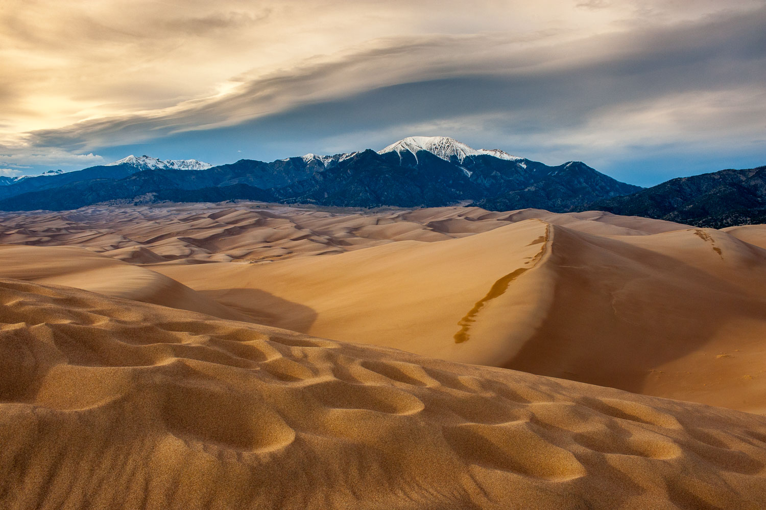 """Sand Craters"", Great Sand Dunes National Park and Sangre Cristo"