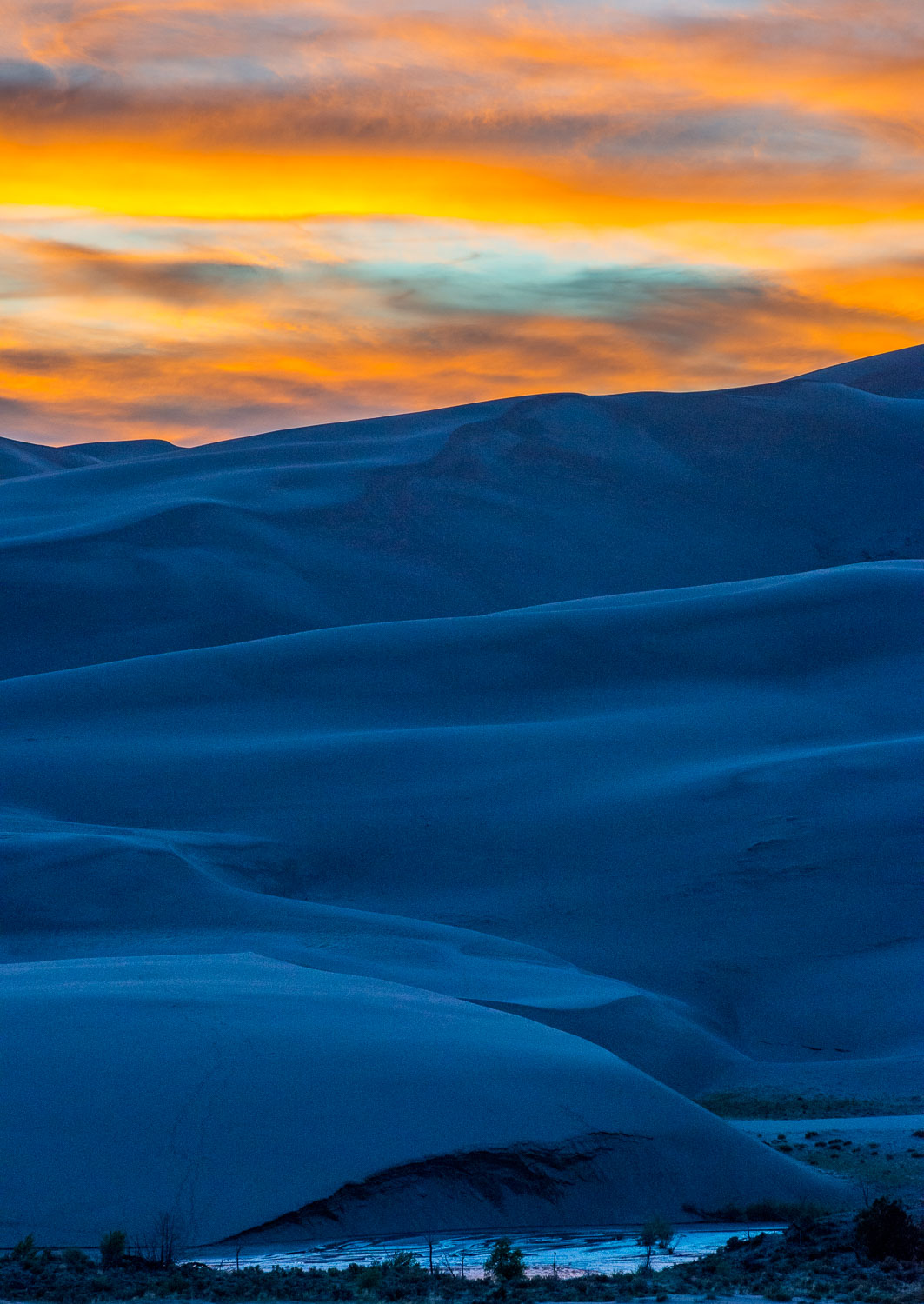 """Blue Dune Sunset"", Great Sand Dunes National Park,  Colorado"