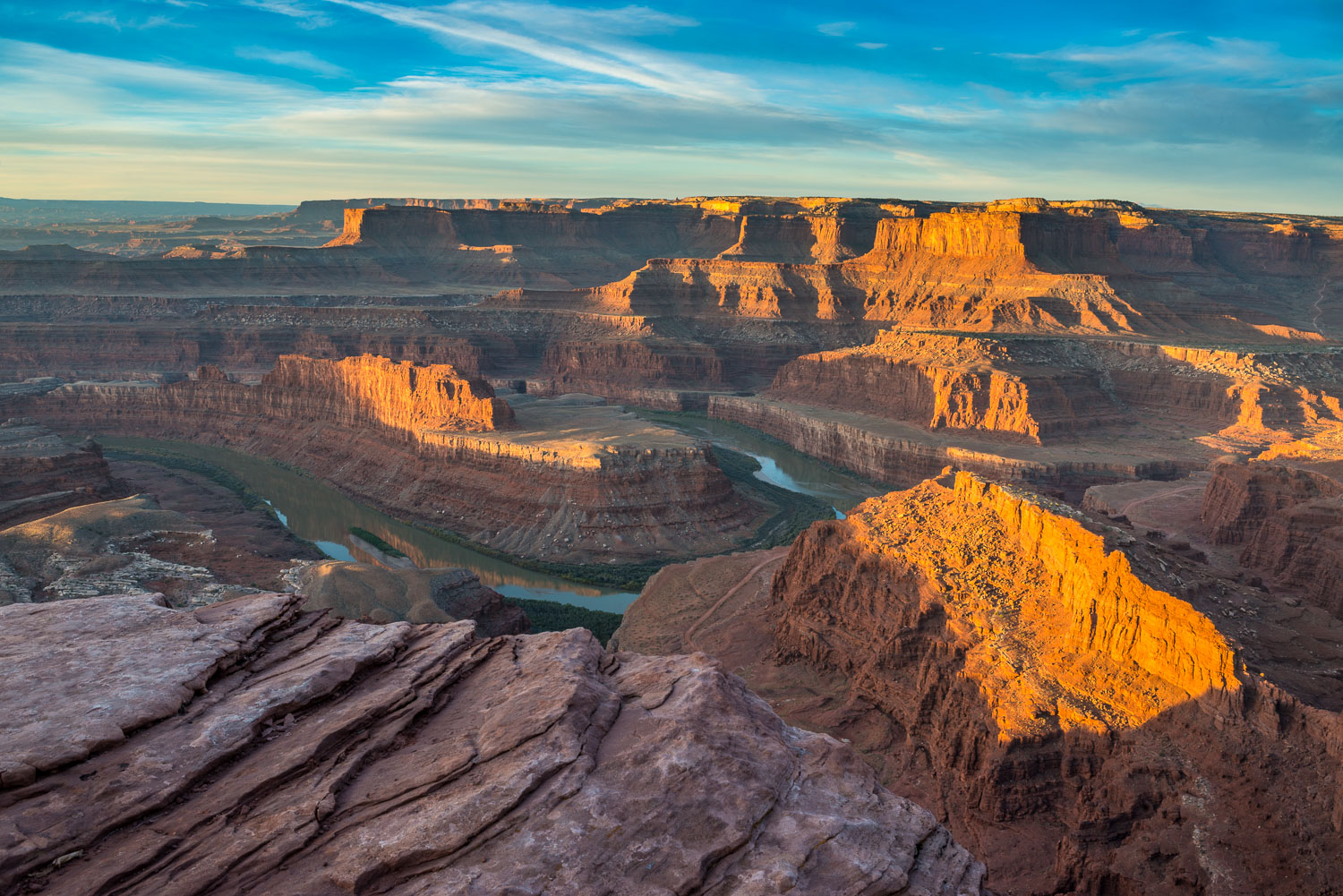 """Sunrise at Dead Horse Point"" with view of Colorado River and Ca"