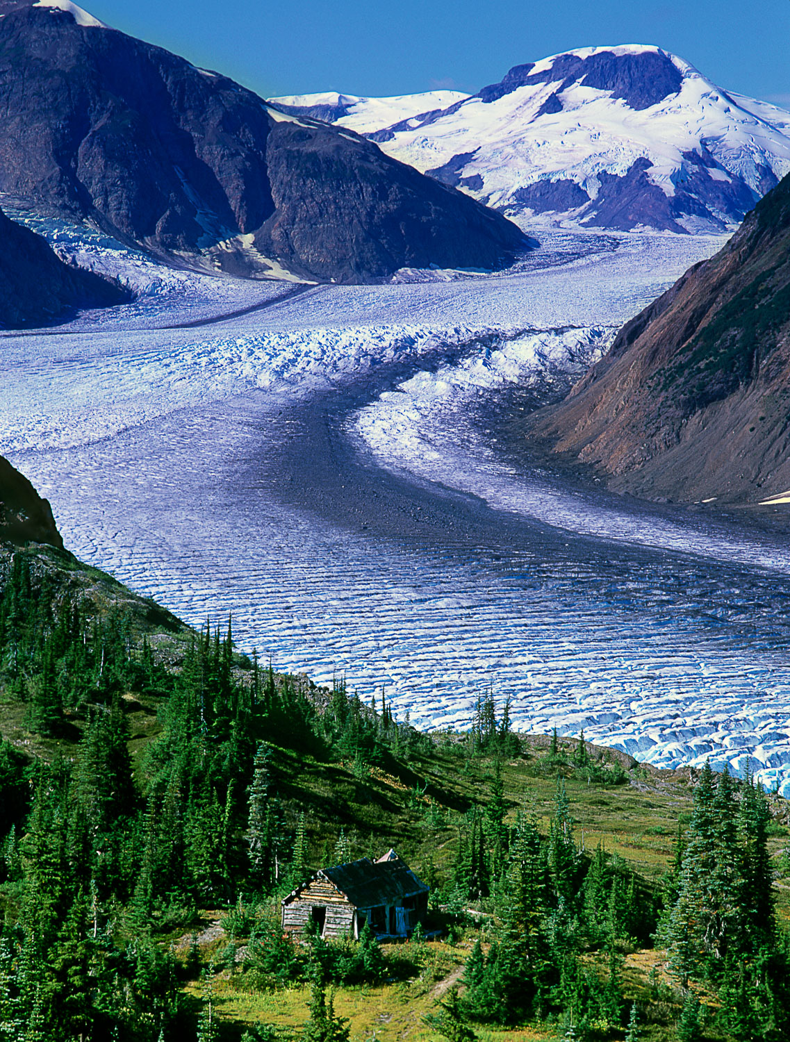 """Miners Cabin and Salmon Glacier"" near Stewart, British Columbia"