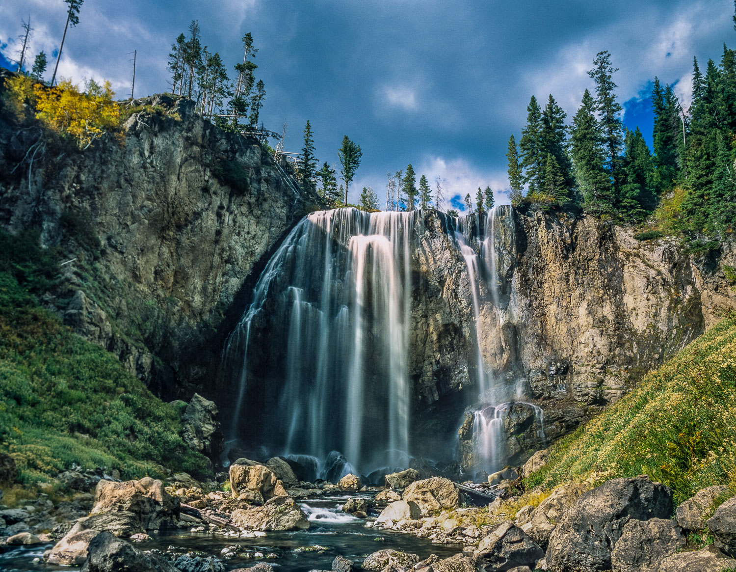 """Dunanda Falls Invitation"" Dunanda Falls, Yellowstone National P"