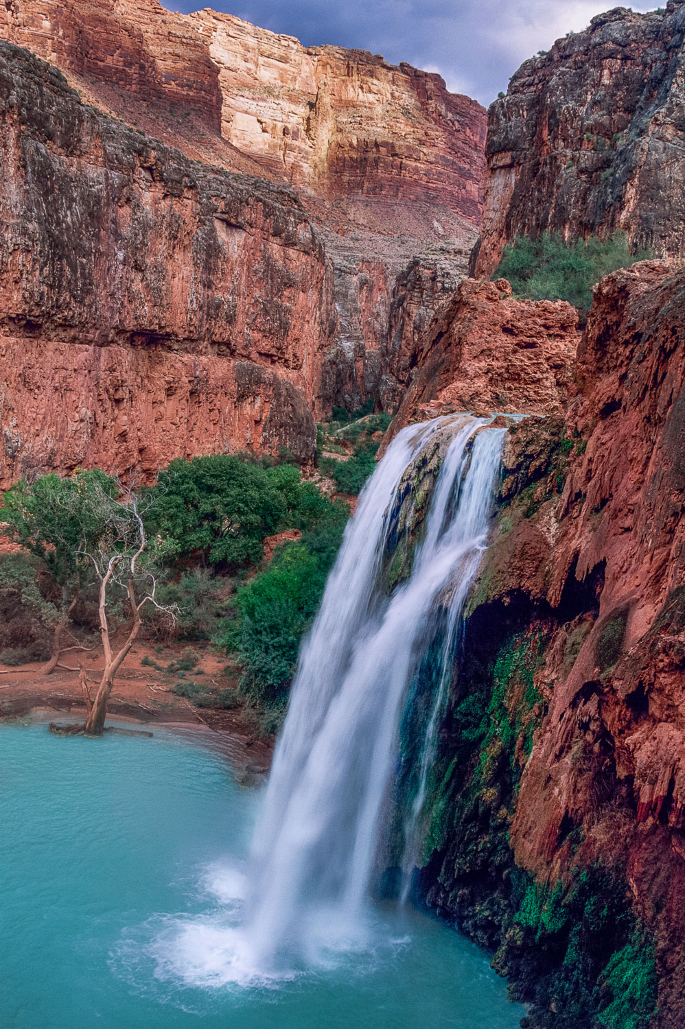 """Havasu Paradise"" Sandstone Walls and Aqua Havasu Waterfall, Hav"