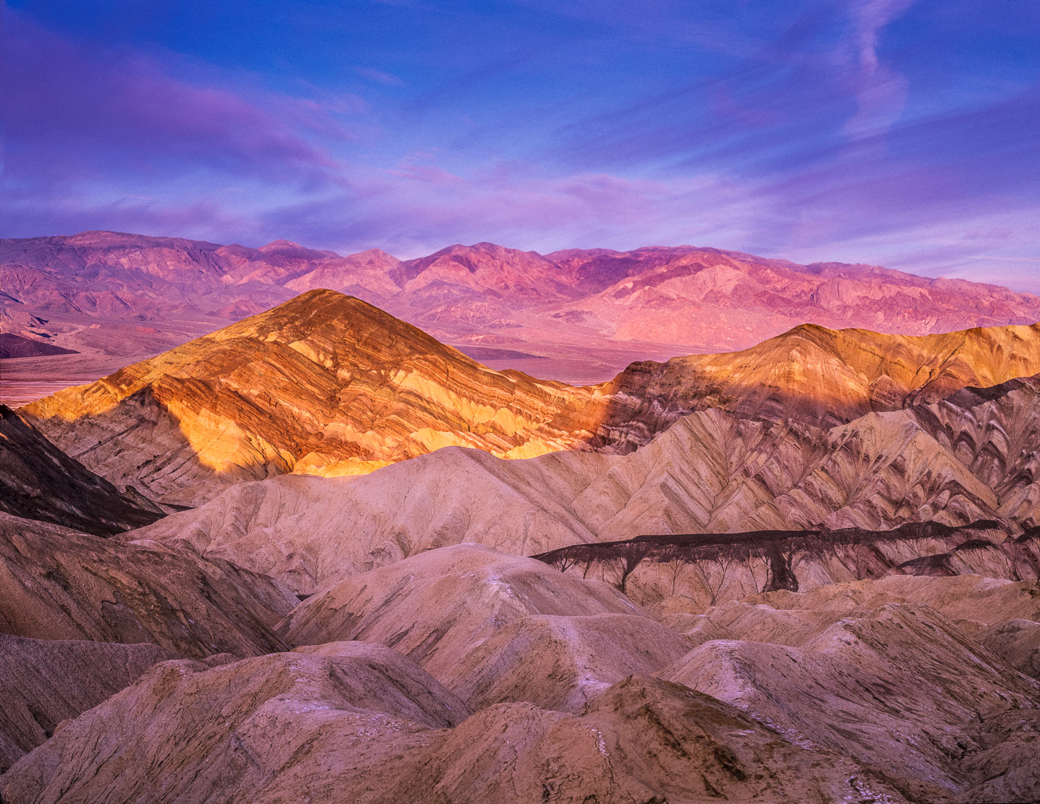 """Golden Canyon at Sunrise,"" Death Valley National Park, CAliforn"