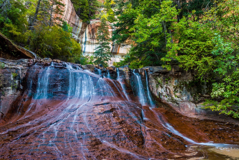 """Gentle Gyration"", Creek below Subway, Zion National Park, near"