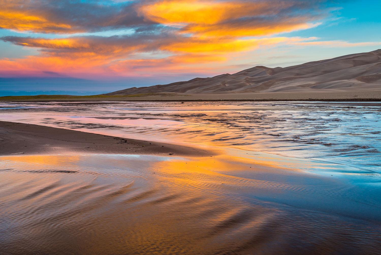 """Medano Sunrise Magic"", Great Sand Dunes National Park, near Ala"